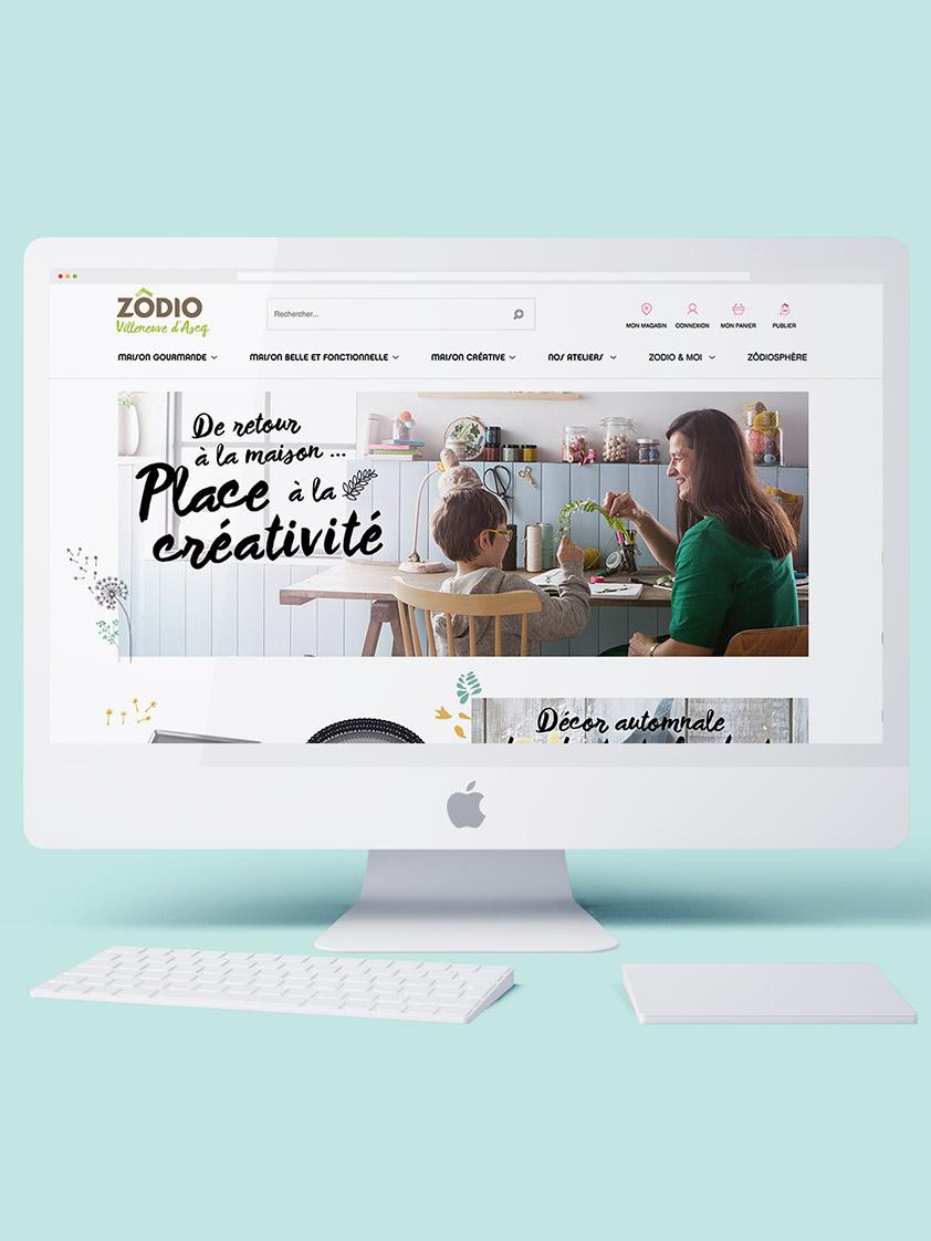 Image mockup site e-commerce Zodio