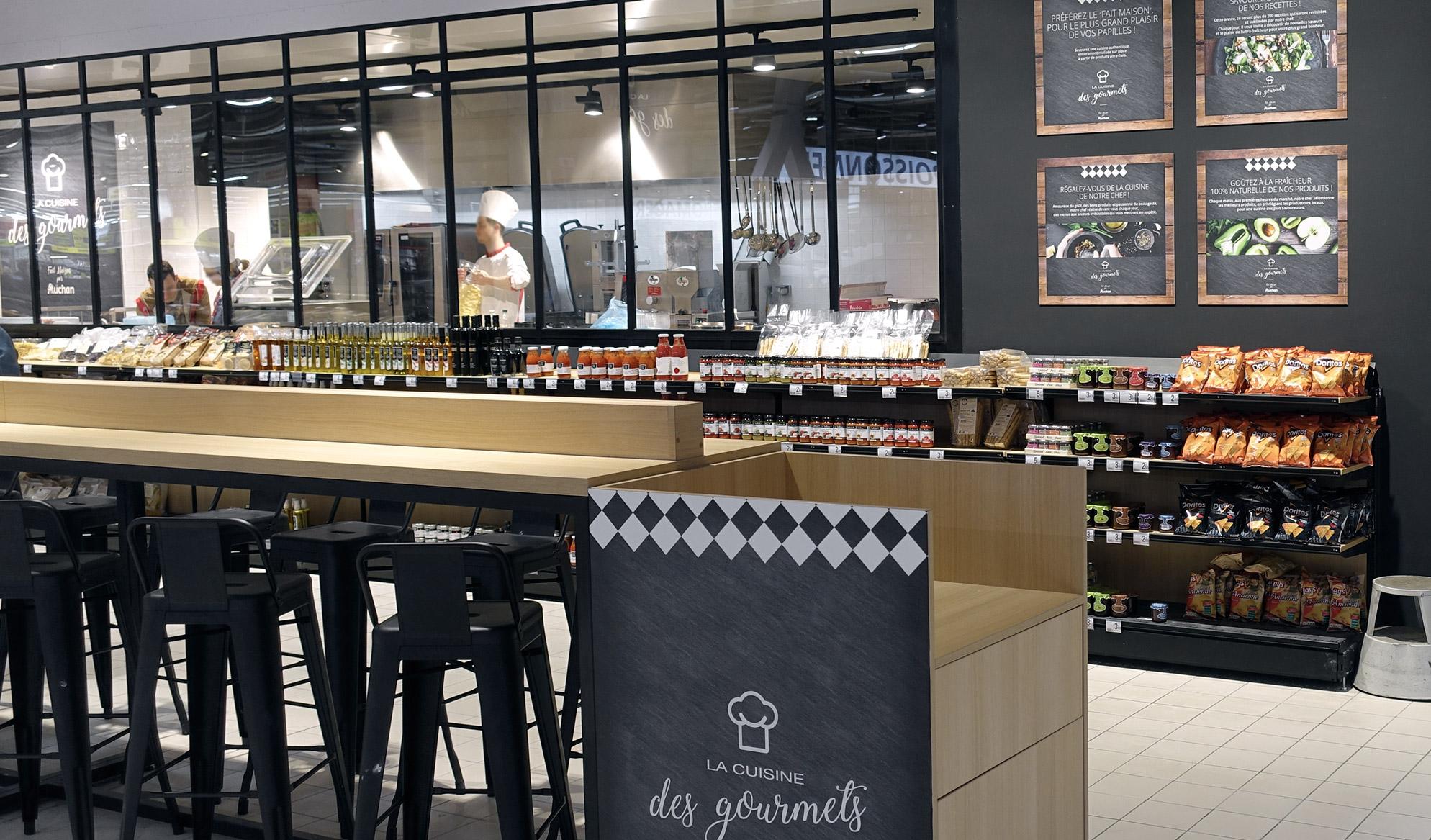 Photo cuisine des gourmets Auchan
