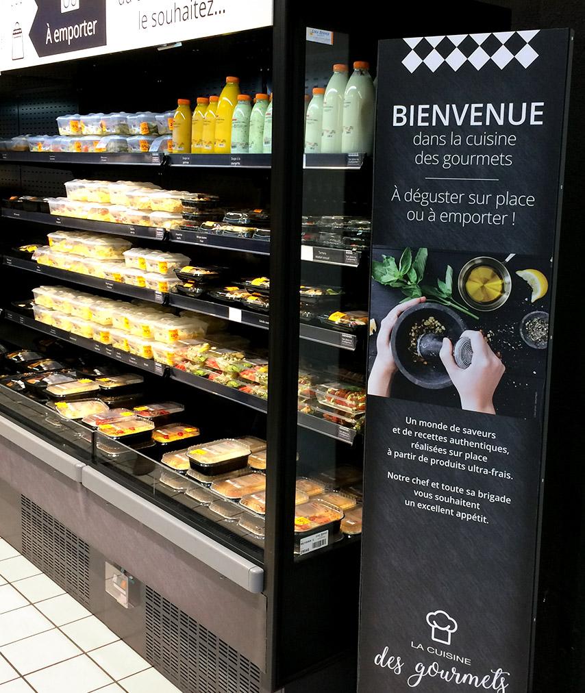 Photo sel service cuisine des groumets Auchan