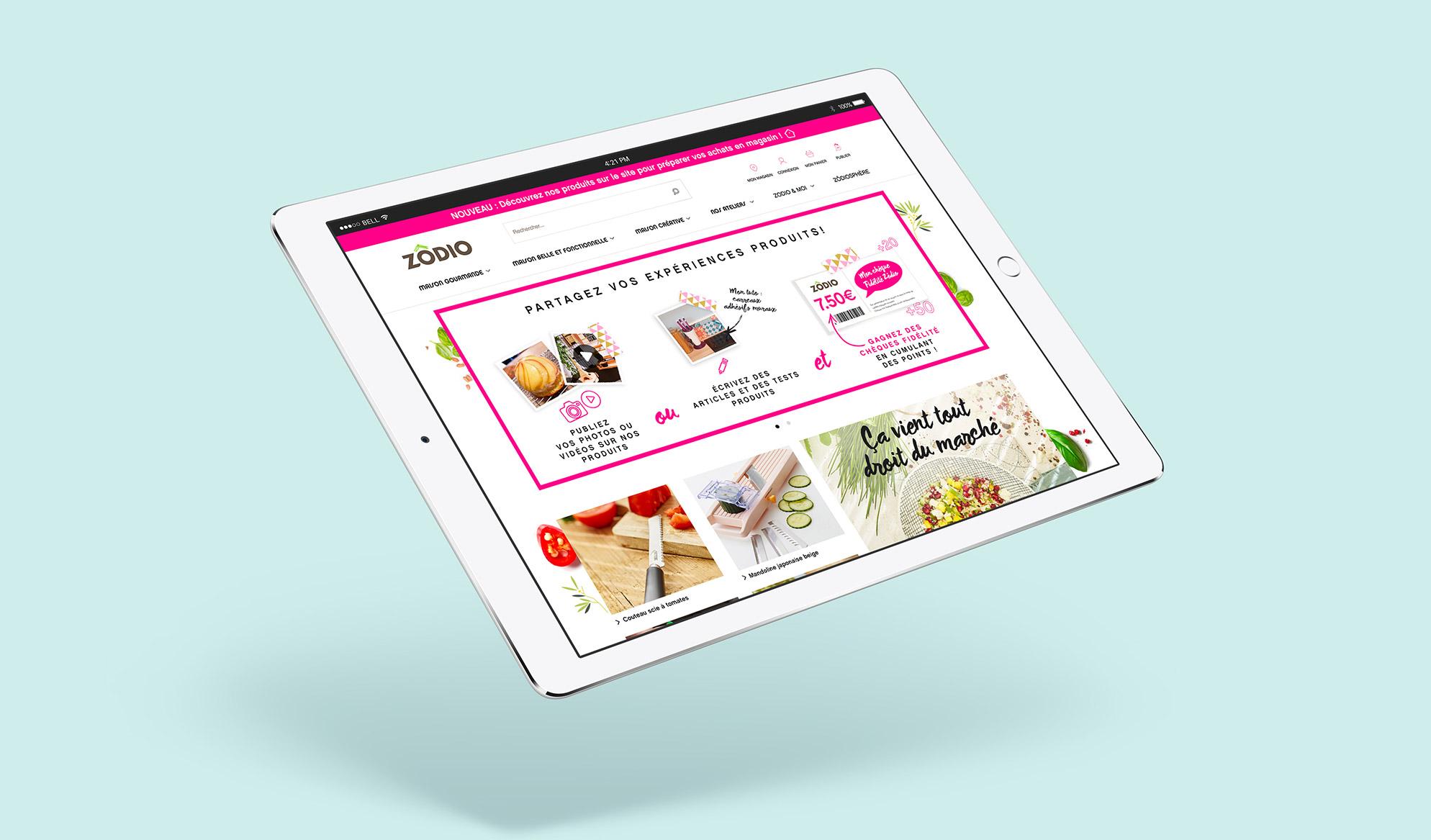 Image mockup tablette site Zodio
