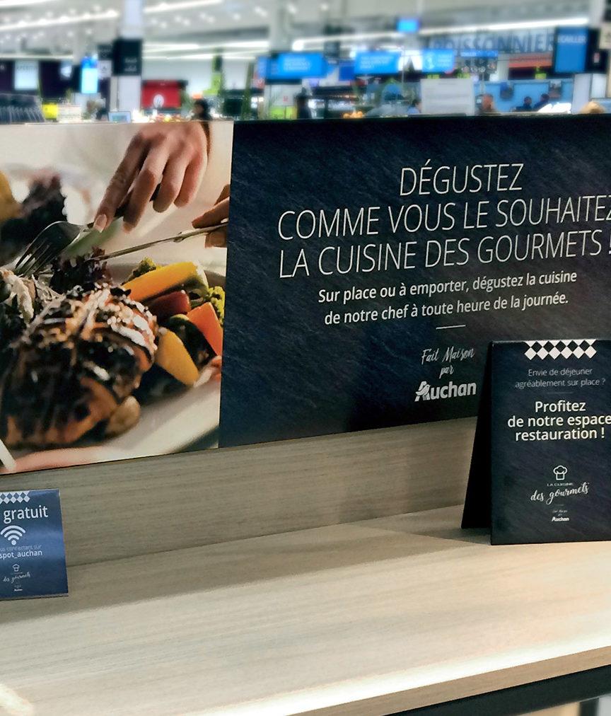 Photo habillage cuisine des gourmets Auchan