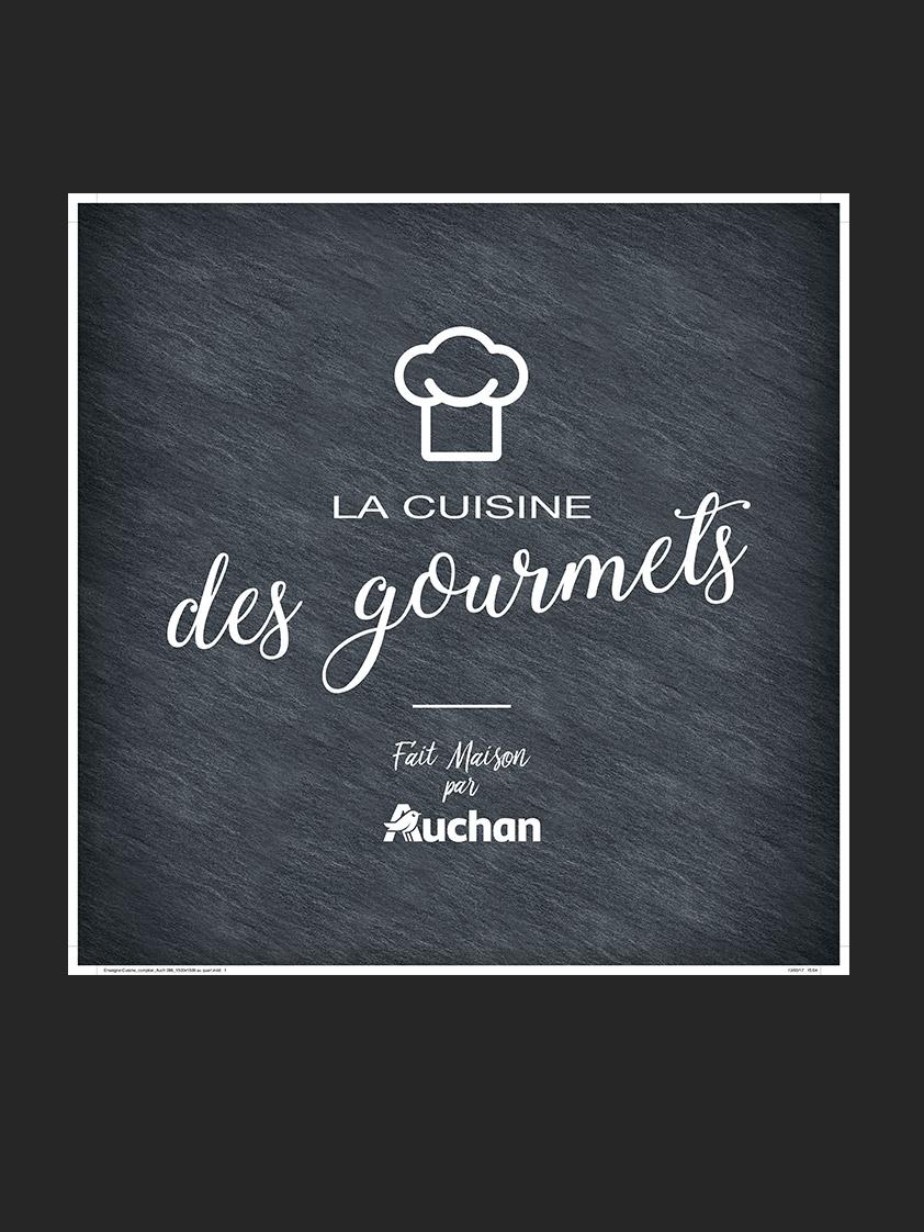 Logo Cuisine des gourmets Auchan