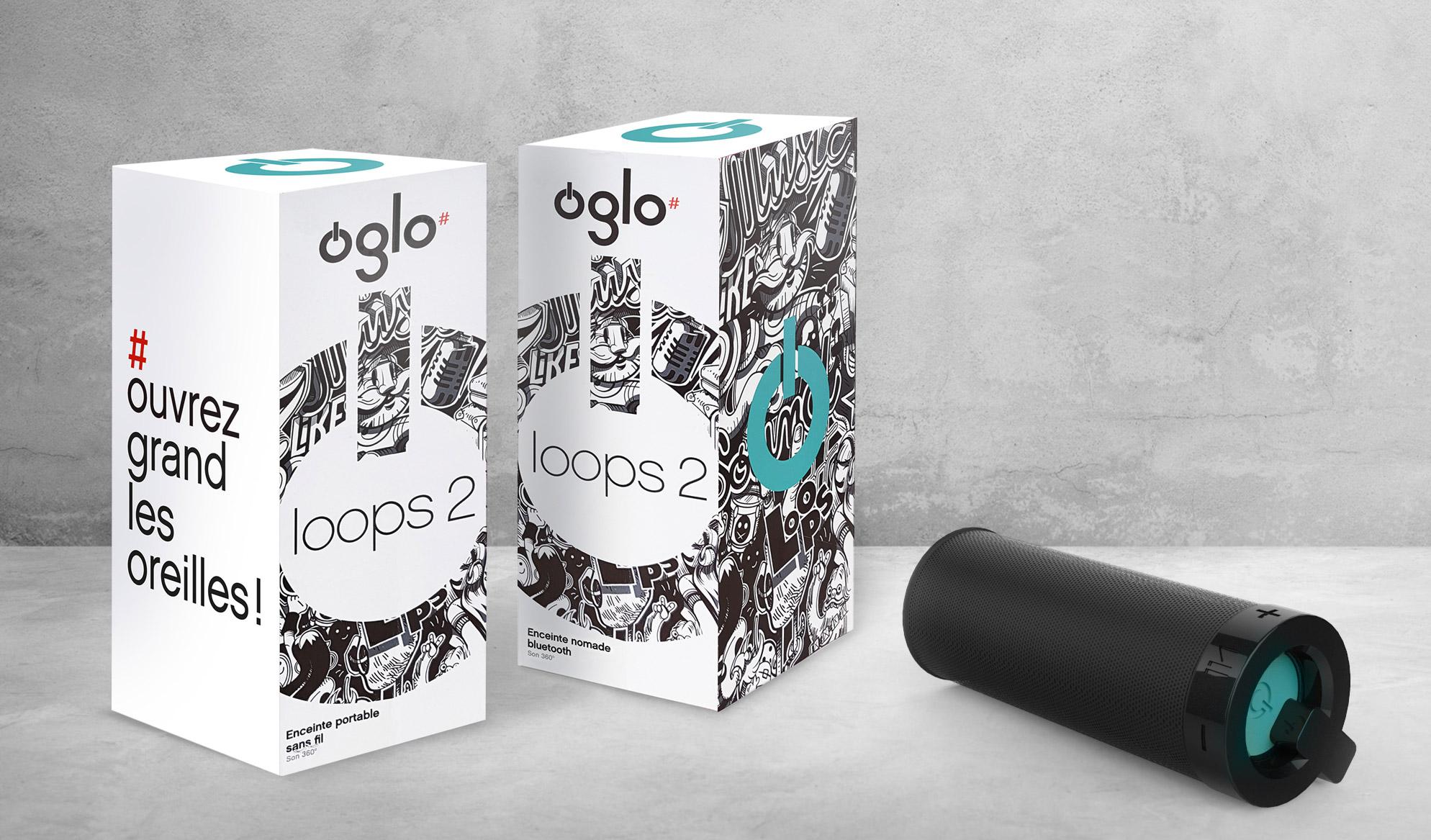 Photo packaging enceintes Oglo Boulanger