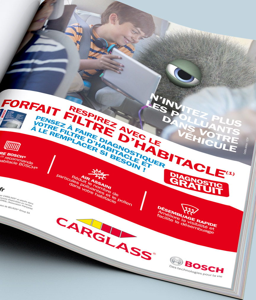 Photo publicite magazine Carglass