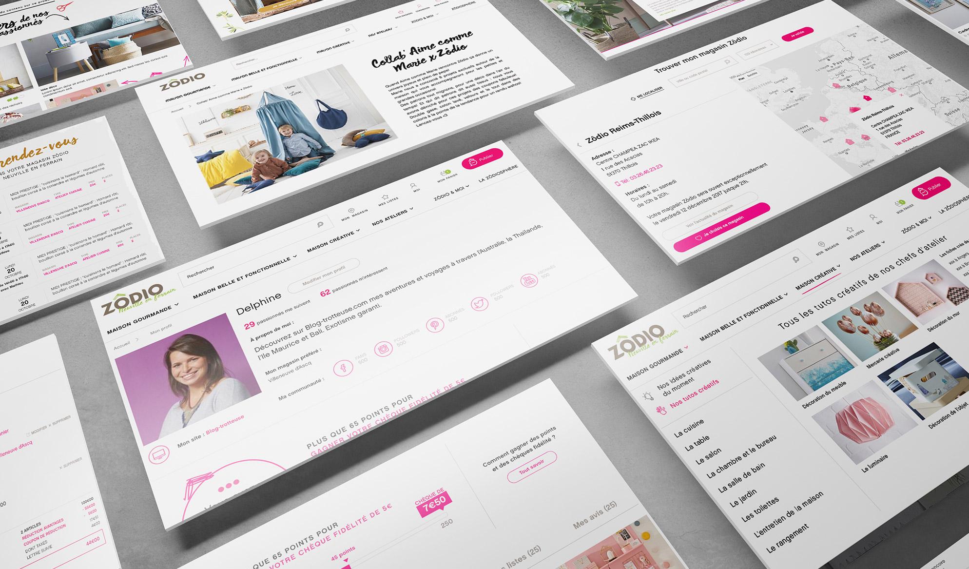Image pages site e-commerce Zodio